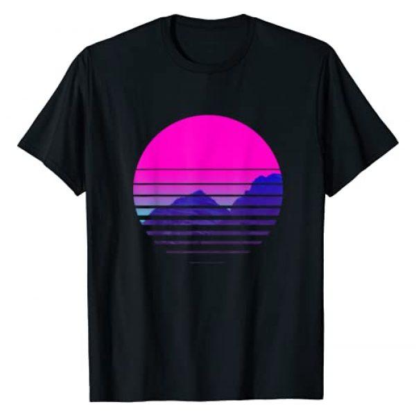 80s & 90s AESTHETIC VAPORWAVE TEES Graphic Tshirt 1 Vaporwave Aesthetic T-Shirt Sundownsunrise Mountains Scenary