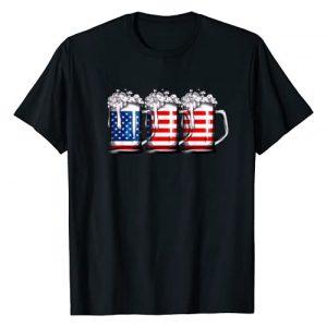 Lique Patriotic Graphic Tshirt 1 Beer American Flag T shirt 4th of July Men Women Merica USA