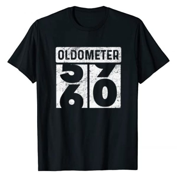 Automotive Enthusiasts Gifts Graphic Tshirt 1 Oldometer Odometer Funny 60th Birthday Gift 60 yrs Old Joke T-Shirt