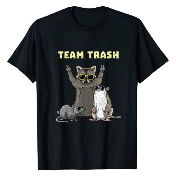 Wowsome! Graphic Tshirt 1 Team Trash Opossum Raccoon Rat, Funny Animals Garbage Gang T-Shirt