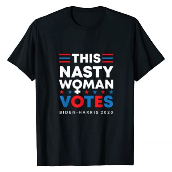 Kamala Harris Merchandise Gifts 2020 Graphic Tshirt 1 This Nasty Woman Votes Biden Harris 2020 Feminist Election T-Shirt