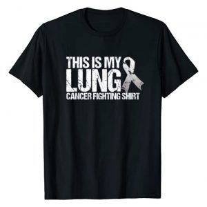Lung Cancer Awareness Graphic Tshirt 1 This Is My Lung Cancer Fighting- Lung Cancer Awareness T-Shirt