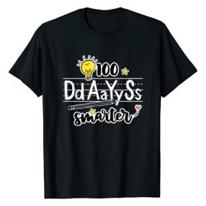 School Squad Graphic Tshirt 1 100 Days Smarter 100th Day of School Outfit English Teacher T-Shirt