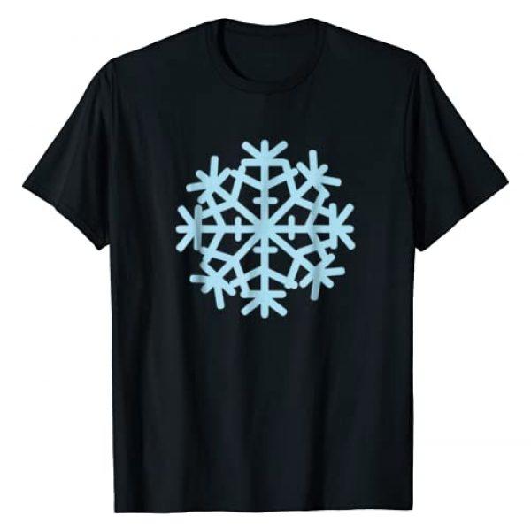 Snowflake Tshirts Graphic Tshirt 1 Blue snowflake T-Shirt