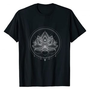 Dancing Spirits Graphic Tshirt 1 Circle Lotus Flower Mandala with Necklace T-Shirt