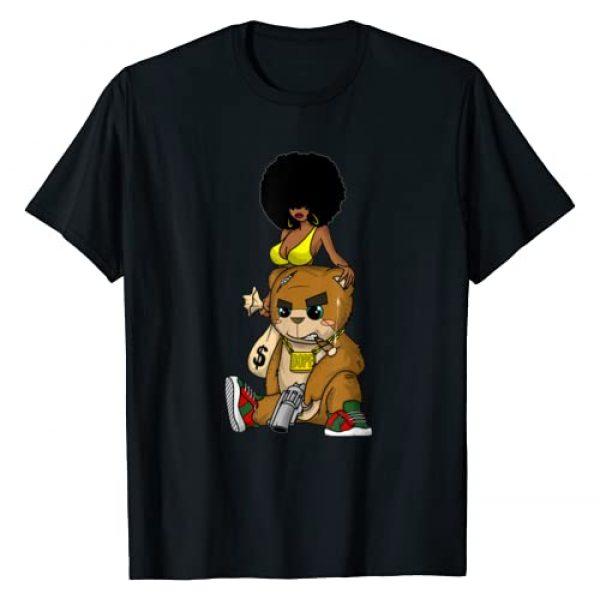 Hustle n Hip Hop Gang Clothing for Men Graphic Tshirt 1 Hip Hop Teddy Bear Gangster Rap Hustle Hard Get Money Tee T-Shirt