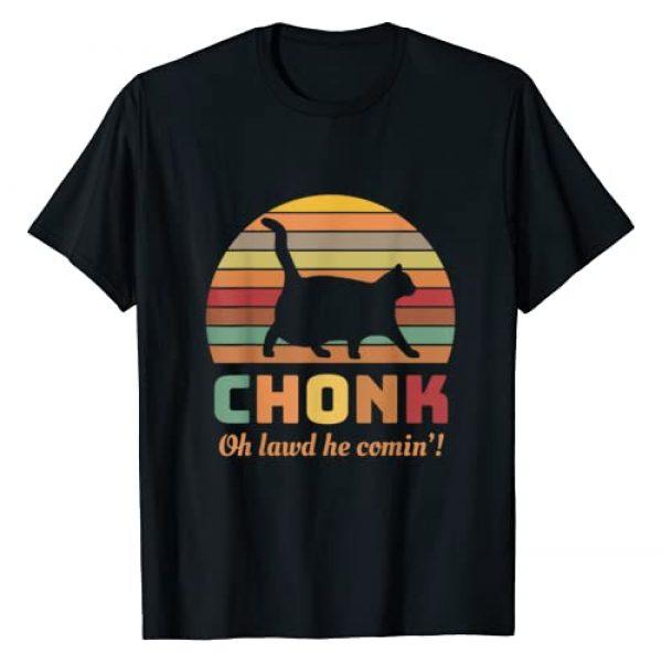 Funny Chonk Scale Cat Meme Graphic Tshirt 1 Chonk Cat Scale Meme Retro Oh lawd he comin' Memes T-Shirt