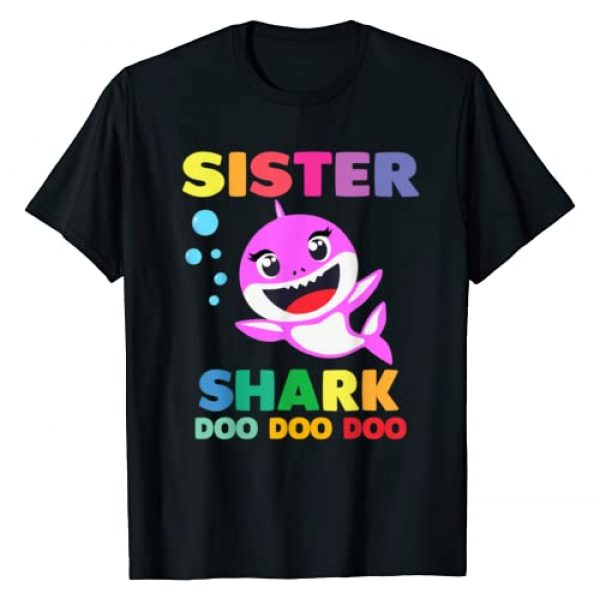 Shark Doo Doo Doo Tees Graphic Tshirt 1 Sister Shark T-Shirt Doo Doo Mommy Daddy Brother Baby Tshirt T-Shirt