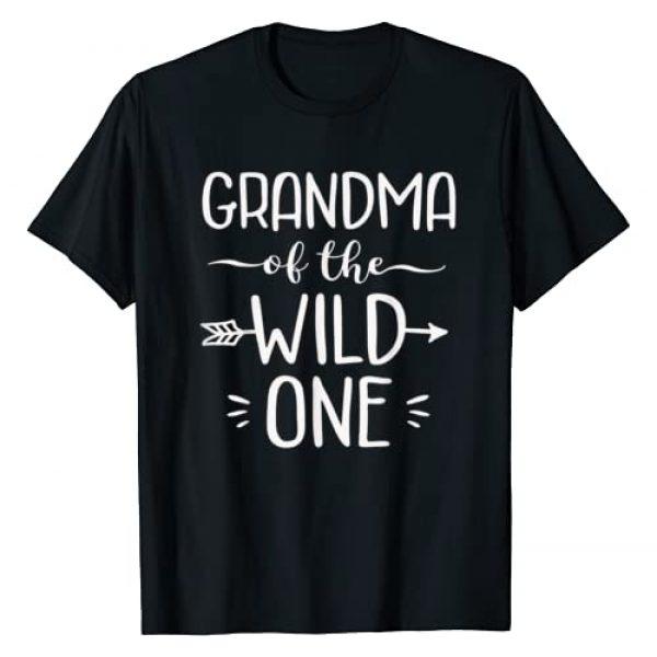 Wild One Shirts Graphic Tshirt 1 Grandma Of The Wild One Shirt Funny 1st Birthday Safari Gift T-Shirt