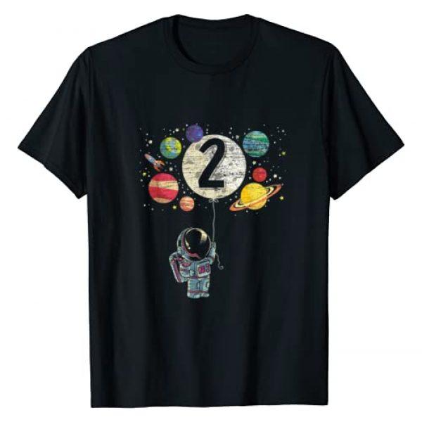 Birthday Boy Astronaut Gift Graphic Tshirt 1 2 Years Old Birthday Boy Gifts Astronaut 2nd Birthday T-Shirt