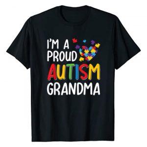 Autism Awareness Funny Shirt Graphic Tshirt 1 I'm A Proud Autism Grandma Autism Awareness T-Shirt