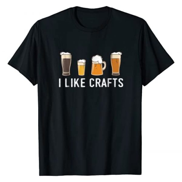 Craft Beer Funny Shirts Graphic Tshirt 1 I Like Crafts, Beer T-Shirt