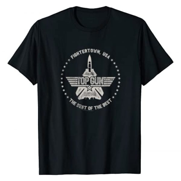 Top Gun Graphic Tshirt 1 Fightertown USA Circle 1 Color Distressed T-Shirt