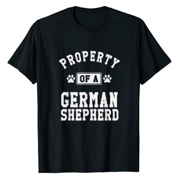 PupTeez Graphic Tshirt 1 Property Of A German Shepherd - Shepherd Lover Shirt Gift