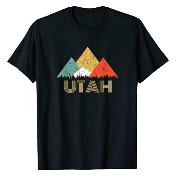 Hope and Hobby Graphic Tshirt 1 Retro Utah Mountain T Shirt for Men Women and Kids