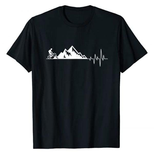 Heartbeat Cycling Graphic Tshirt 1 funny gift for Mountain Bike Heartbeat for MTB Bikers T-Shirt