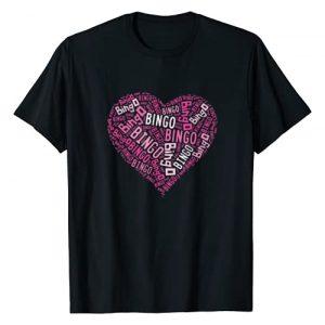 Bingo Player Happiness Graphic Tshirt 1 Bingo Player T-shirt -Pink Heart Bingo