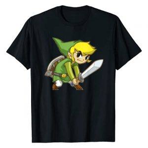 Legend of Zelda Graphic Tshirt 1 Nintendo Zelda Spirit Tracks Link Sword Pose Graphic T-Shirt