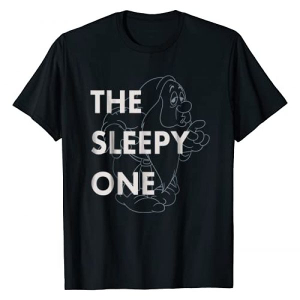 Disney Graphic Tshirt 1 Snow White The Sleepy One Outlined Graphic T-Shirt