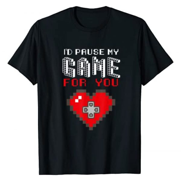 Valentines Day Shirt by Crush Retro Graphic Tshirt 1 Video Game Gaming Valentines Day Gamer T Shirts for Boys Men T-Shirt