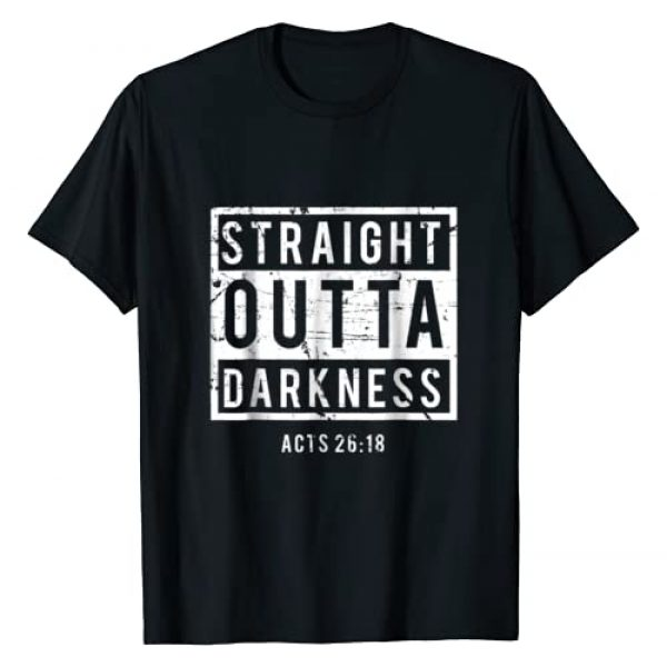 Christian Tee World Graphic Tshirt 1 Biblical Verse T-shirt - Straight Outta Darkness