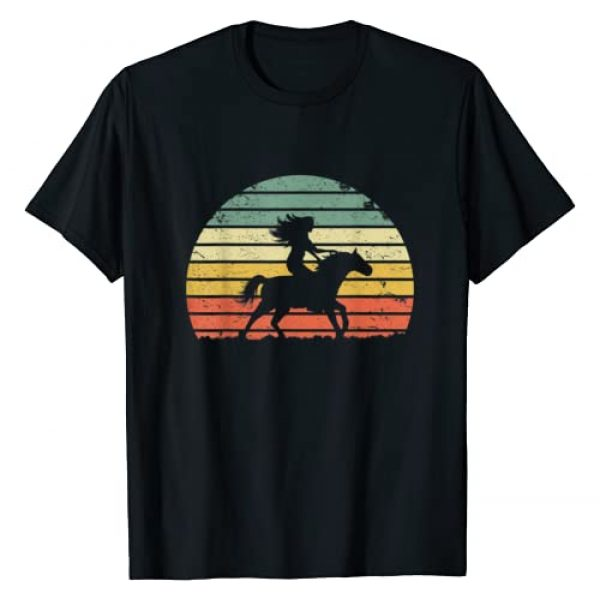 Vintage Girl Riding Horse Apparel Graphic Tshirt 1 Girl Horse Riding Shirt Vintage Cowgirl Texas Ranch T-Shirt