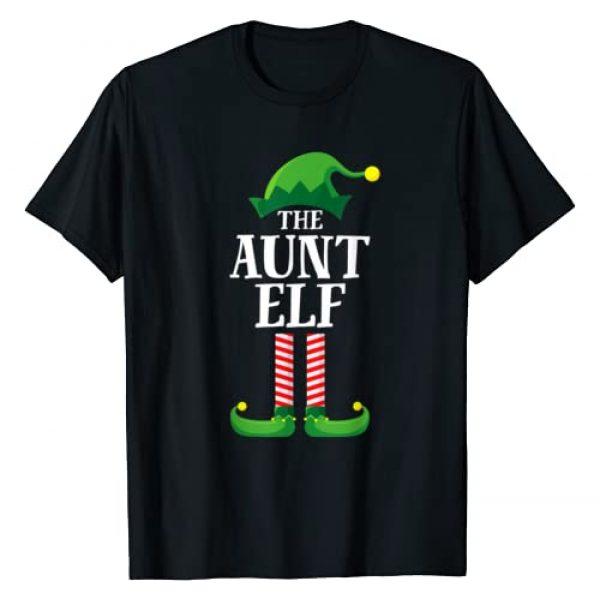 Elf Family Christmas Emporium Graphic Tshirt 1 Aunt Elf Matching Family Group Christmas Party Pajama T-Shirt