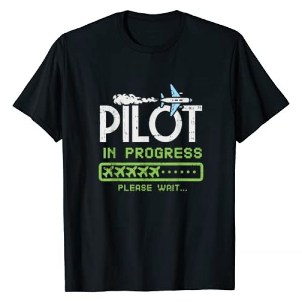 Future Pilot Loading Gifts, Kids Airplane Gifts Graphic Tshirt 1 Kids Pilot In Progress, Future Pilot Toy Airplane Lovers T-Shirt
