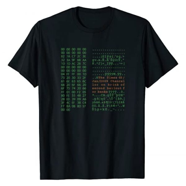 Genesis Block Graphic Tshirt 1 Bitcoin shirt - Satoshi Nakamoto Genesis Block crypto T-Shirt