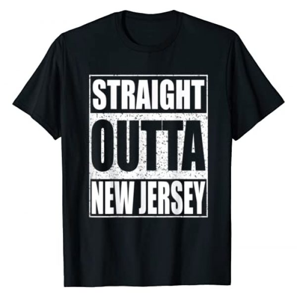 Straight Outta New Jersey Shirts Graphic Tshirt 1 Straight Outta New Jersey T-Shirt Patriotic New Jersey State