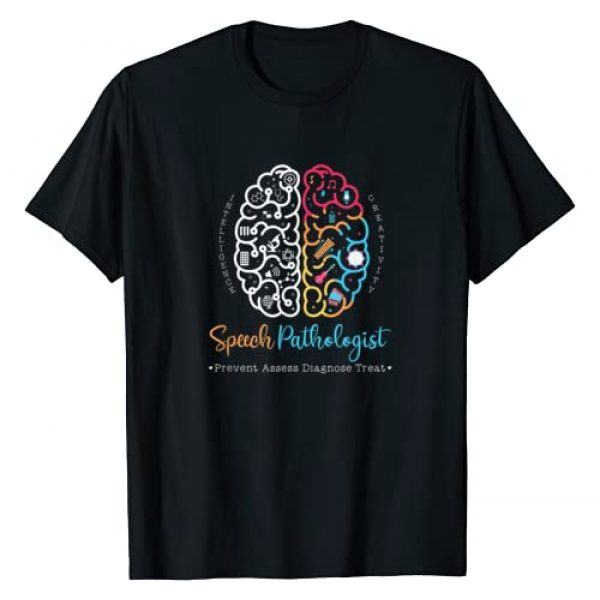 Speech Language Pathology Gifts Co. Graphic Tshirt 1 Brain of a Speech Pathologist Gift Speech Language Therapy T-Shirt