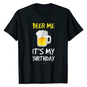 LUMOMIX Graphic Tshirt 1 Beer Me Its My Birthday T-Shirt. Funny Drinking Beer Shirts