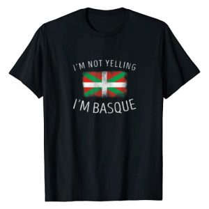 Family Heritage Gifts Graphic Tshirt 1 I'm Not Yelling, I'm Basque - Funny Basque Pride T-Shirt