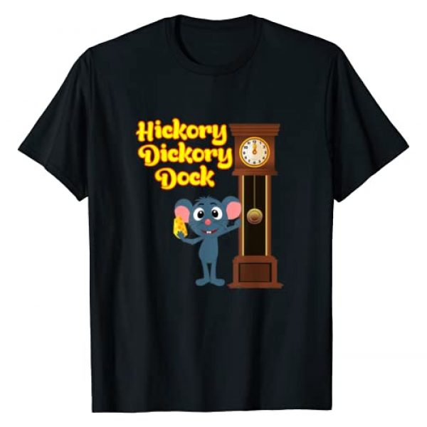 Favorite Nursery Rhymes Tees Graphic Tshirt 1 Hickory Dickory Dock Nursery Rhyme T-Shirt Adults and Kids