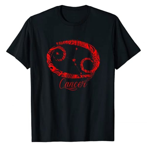InGENIUS Zodiac Astrology Gifts Graphic Tshirt 1 Red Cancer Zodiac Sign Symbol Stars June July Birthday Gift T-Shirt