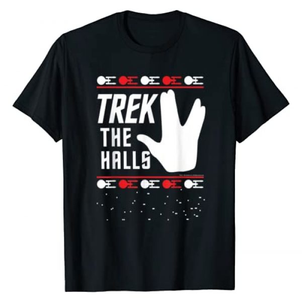 STAR TREK Graphic Tshirt 1 Christmas Trek The Halls Sweater T-Shirt