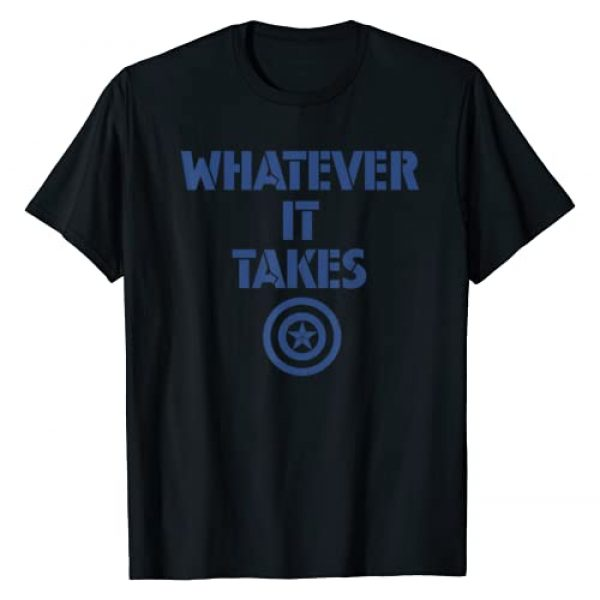 Marvel Graphic Tshirt 1 Avengers Endgame Whatever It Takes Captain America Logo T-Shirt