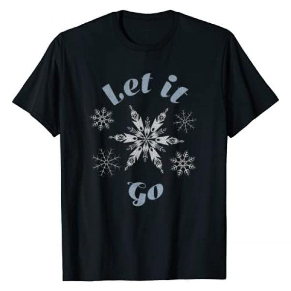 Disney Graphic Tshirt 1 Frozen Let It Go Snowflake T-Shirt