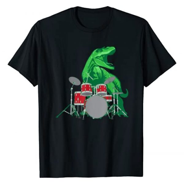 Dino Drumming T-Shirt For Cute Boys, Girls, & Kids Graphic Tshirt 1 Cool Dinosaur Drummer Shirt - Best Gift For All Drummers