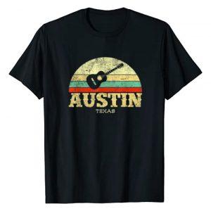 Texas Clothing Company Graphic Tshirt 1 Retro Austin Texas Guitar Shirt Vintage Lone Star State Tee T-Shirt