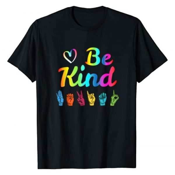 ASL Sign Language Be Kind We Are Deaf Not Dumb Tee Graphic Tshirt 1 Be Kind Love ASL Sign Language Nonverbal Teacher Student T-Shirt