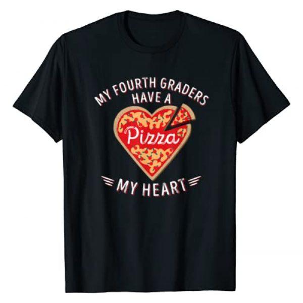 Cute Valentines Day Teacher Shirt Women Men Gifts Graphic Tshirt 1 Valentines Day Teacher Shirt Fourth Grade Pizza My Heart Tee