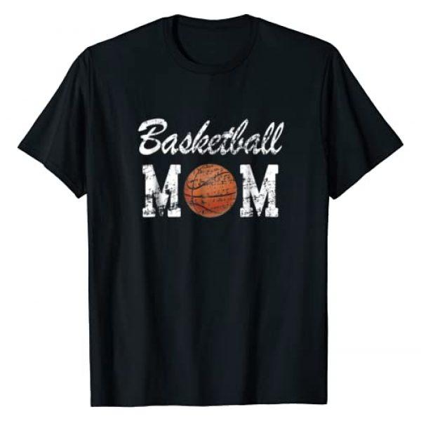 Basketball Mom Tee Designs Graphic Tshirt 1 Basketball Mom Cute Novelty Distressed T-Shirt