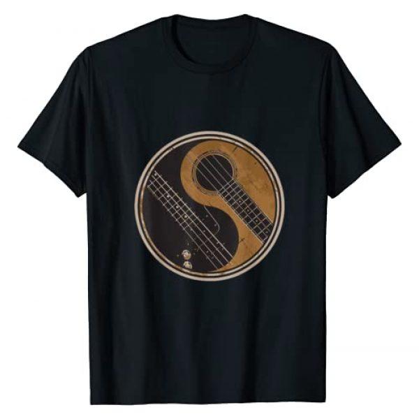 Ying Yang Guitar Shirts Graphic Tshirt 1 Ying Yang Guitar T-Shirt Gift Guitar Player Guitarist Retro T-Shirt