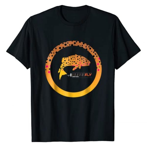 Black Fly Creations Graphic Tshirt 1 Trout Skin T-shirt Fly Fishing Gear Wear with Waders or Vest