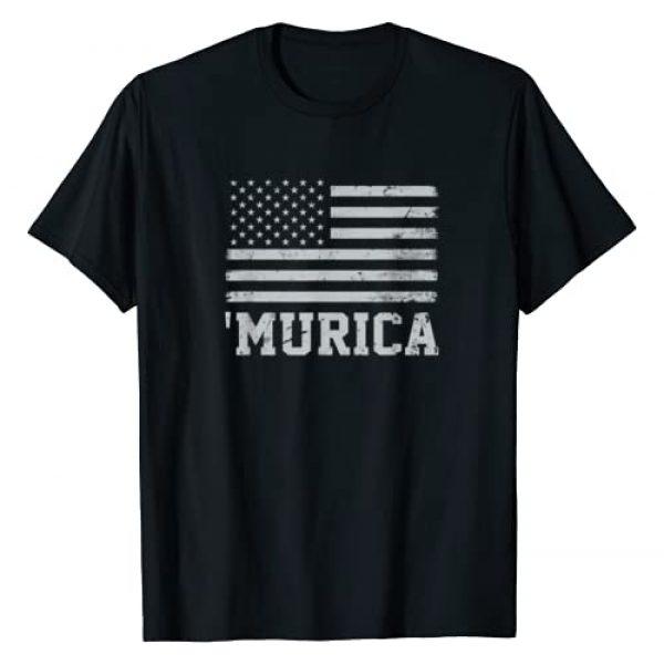 Murica Graphic Tshirt 1 Vintage American Flag 'Murica T-Shirt