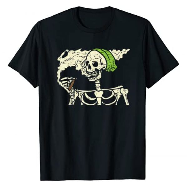 BoredKoalas Funny Halloween Costume Shirts 2020 Graphic Tshirt 1 Smoking Skeleton Joint Funny Weed Pot 420 Cannabis Halloween T-Shirt