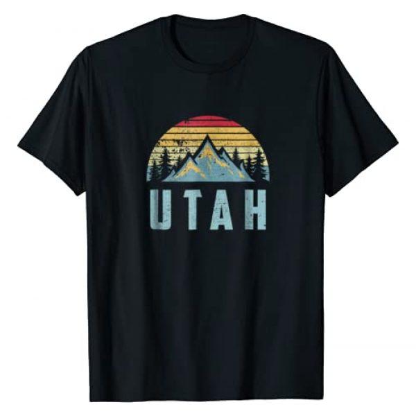 Vintage Retro Utah Tee Shirts Graphic Tshirt 1 Utah Tee - Retro Vintage Mountains Hiking Nature T Shirt