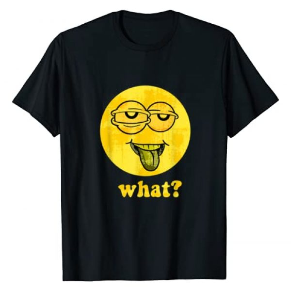 What Smiley Face Tees Graphic Tshirt 1 Vintage SMILEY FACE 70's Vibe Yellow Smiley Trippy Funny T-Shirt