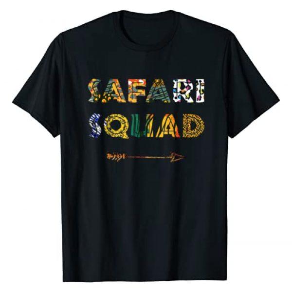 Cute Africa Animals Zoo Lion Tiger Giraffe TShirt Graphic Tshirt 1 Safari Squad African Family Vacation Summer Vacay Trip Zebra T-Shirt